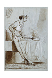 Servant with a Bedwarmer Giclee Print by Mariano Fortuny y Marsal
