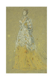 Study for 'Symphony in Flesh Color and Pink' (Portrait of Mrs, 1870-73) Giclee Print by James Abbott McNeill Whistler