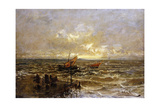 Sailing Boats Off a Jetty Giclee Print by Mose Bianchi
