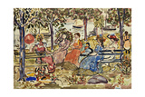 Afternoon in the Park Giclee Print by Maurice Brazil Prendergast