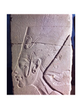 A Detail of a Relief Showing Nefertiti Wearing the Crown with the Ureaus Giclee Print
