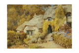 Cottages at Selworthy, Somerset Giclee Print by Arthur Claude Strachan