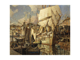 Cadiz Salt Ship, Gloucester Harbor Giclee Print by Frederick John Mulhaupt