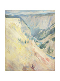 Yellowstone Park Giclee Print by John Henry Twachtman