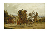 The London to York Stagecoaches Giclee Print by George Wright