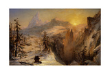 Winter in Switzerland, 1860 Giclee Print by Jasper Francis Cropsey