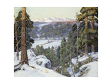 Pines in Winter Giclee Print by George Gardner Symons