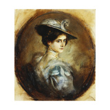 Portrait of a Lady, Head and Shoulders Giclee Print by Franz Seraph von Lenbach