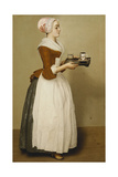 Cup of Chocolate; La Tasse Du Chocolat Giclee Print by Jean-Etienne Liotard