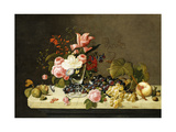 Flowers and Fruit Giclee Print by Severin Roesen
