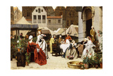 The Flower Market, 1870 Giclee Print by Auguste Serrure