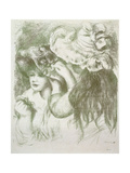 Hat Pin, First Board; Le Chapeau Epingle, Premiere Planche, C.1897 Giclee Print by Pierre-Auguste Renoir