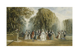 The Introduction: Elegant Figures in a Garden, 1870 Giclee Print by John Edmund Buckley