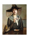 A Cup of Tea Giclee Print by Lilla Cabot Perry