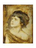 The Head of a Girl, 1879 Giclee Print by Franz Seraph von Lenbach