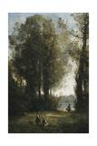 Picking Daisies; La Cueillette Des Marguerites, C.1865-1870 Giclee Print by Jean-Baptiste-Camille Corot