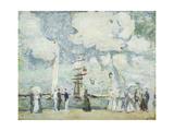 Harbour Entrance at Deauville; Entree Du Bassin De Deauville Giclee Print by Paul Cesar Helleu
