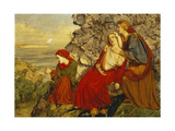 An Incursion of the Danes: Saxon Women Watching the Conflict Giclee Print by William Gale