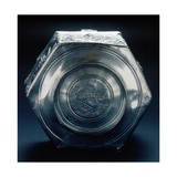 The Base of a Six-Sided Silver Vessel Which Is Marked by a Control Stamp Giclee Print