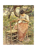 The Seamstress, C.1891 Giclee Print by Theodore Robinson