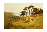 Harvest Time, Fairlight, Sussex Giclee Print by Henry Parker