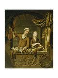 The Poultry Sellers, 1727 Giclee Print by Willem Van Mieris