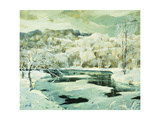 Frosted Trees Giclee Print by Jonas Lie