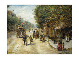 Les Grands Boulevards, Paris Giclee Print by Eduardo-leon Garrido
