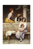 Small Talk Giclee Print by Eugen Von Blaas