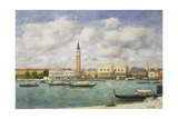Venice, Campanile, St Mark's View of the Canal from San Giorgio; Venise, Le Campanile, Vue Du… Giclee Print by Eugene Louis Boudin