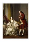 Double Portrait of the Marquis and Marquise De Marigny, 1769 Giclée-Druck von Louis Michel Van Loo