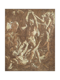 Hercules Killing Cacus Giclee Print by Hendrik Goltzius