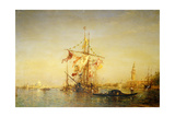 The Bacino Venice with Shipping Giclee Print by Felix Ziem