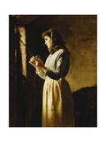 Mending the Nets Giclee Print by Edwin Harris