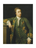 Portrait of Thomas Fortescue, M.P., Standing, Three Quarter Length, Wearing a Green Coat and… Giclée-tryk af Pompeo Girolamo Batoni