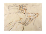 Madame Helleu Reading Giclee Print by Paul Cesar Helleu