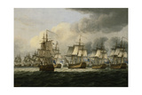 The Battle of Doggerbank, 5 August 1781, 1834 Giclee Print by Thomas Luny