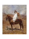 An Arab on a Horse in a Desert Landscape Giclee Print by Henri Emilien Rousseau