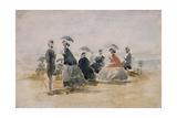 Les Crinolines, 1865 Giclee Print by Eugène Boudin