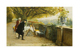Les Voyeurs Giclee Print by Louis Emile Adan