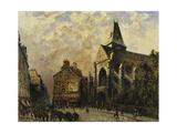 Street Scene Behind the Saint Medard Church, Paris; Scene De Rue Devant L'Eglise De Saint-Medard,… Giclee Print by Frank Myers Boggs
