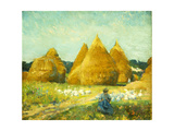 Gathering Geese Giclée-Druck von Robert William Vonnoh