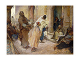 At the Walis Door Giclee Print by Edgar Bundy