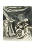 An Old Woman Wearing a Rosary Cursing a Seated Man; Possibly Queen Margaret Cursing the Duke of… Giclee Print by Henry Fuseli