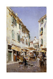 A Street Scene, 1885 Giclee Print by Federico del Campo