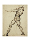 A Nude Throwing Giclee Print by Henry Fuseli