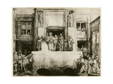 Christ Presented to the People, 1655 Giclee Print by  Rembrandt van Rjin
