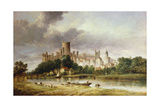 A View of Windsor Castle from the Brocas Meadows, 1856 Giclee Print by Alfred Vickers