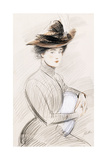 An Elegant Lady Giclee Print by Paul Cesar Helleu