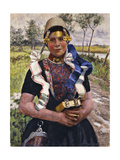 Dutch Finery, a Marken Girl Giclee Print by George Hitchcock